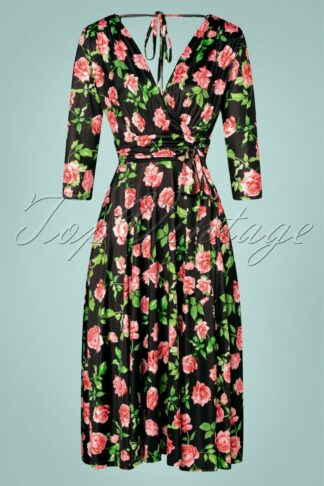 50s Vianna Roses Dress in Black