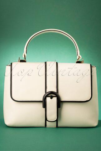 60s Far Out Handbag in Off White