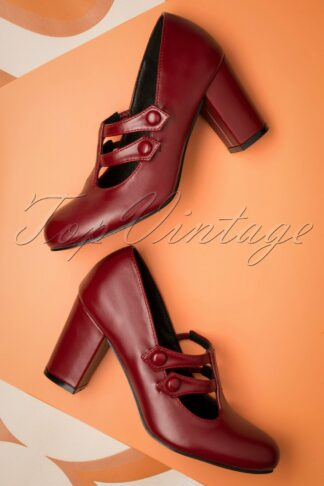 60s Isabella Pumps in Red