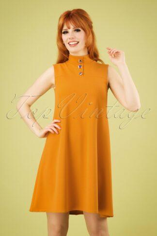 60s Jean A-Line Dress in Mustard