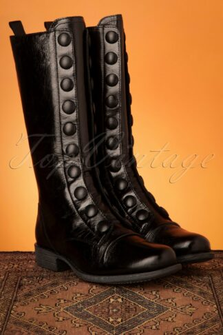 60s Lincoln Leather Boots in Black