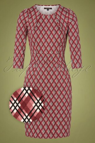 60s Mona Mallory Dress in Sandelwood Red