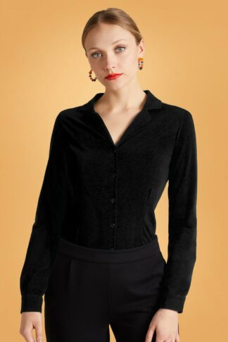 60s Patty Light Blouse in Black