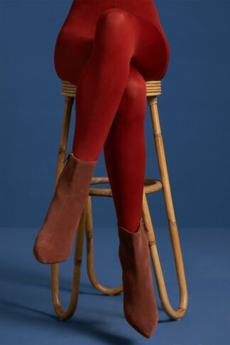 60s Solid Tights in True Red