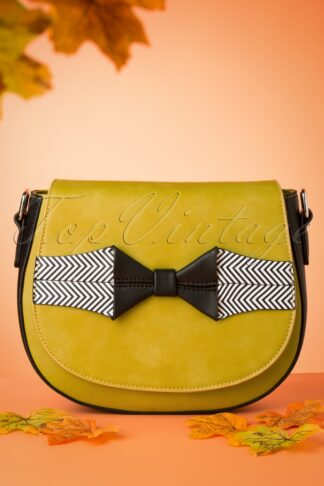 60s Touch of Grace Saddle Bag in Mustard