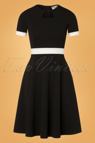 60s Verona Swing Dress in Black and White