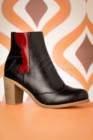 70s Keenak Face Boots in Black