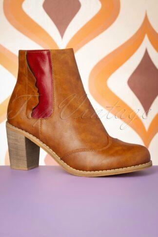 70s Keenak Face Boots in Cognac