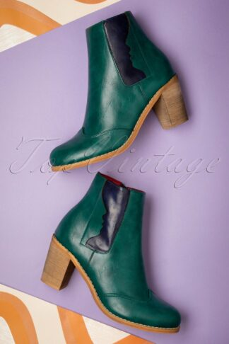 70s Keenak Face Boots in Green
