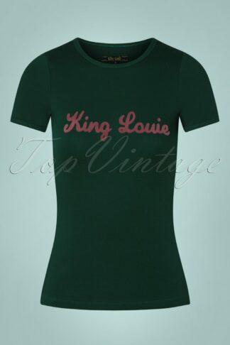70s King Louie Tee in Pine Green