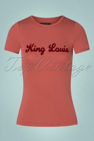 70s King Louie Tee in Velvet Pink