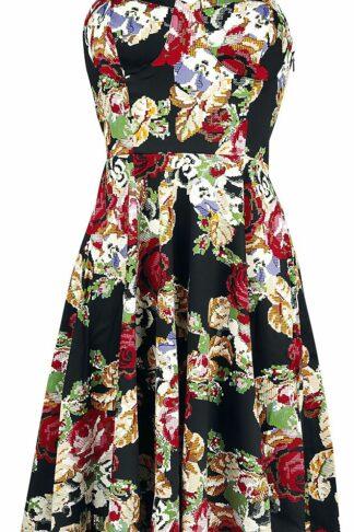 H&R London Susie Halter Dress Mittellanges Kleid multicolor