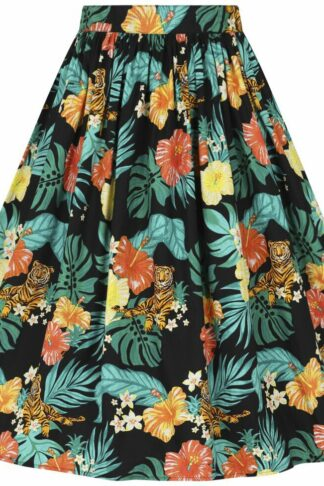 Hell Bunny Bali 50's Skirt Mittellanger Rock multicolor