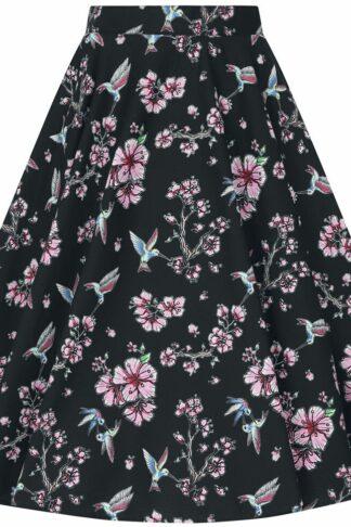 Hell Bunny Madison 50's Skirt Mittellanger Rock schwarz
