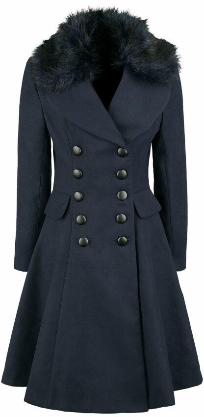 Hell Bunny Milan Coat Wintermantel navy