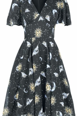 Hell Bunny Solaris Dress Mittellanges Kleid schwarz