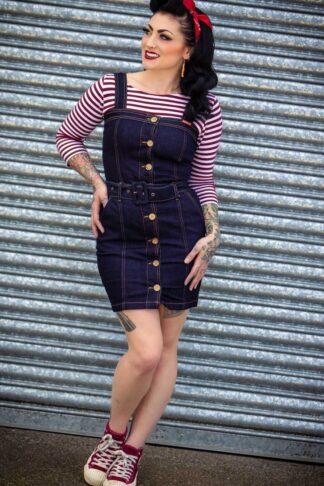 Rumble59 Ladies Denim - Jeanskleid   Perfect Minidress von Rockabilly Rules