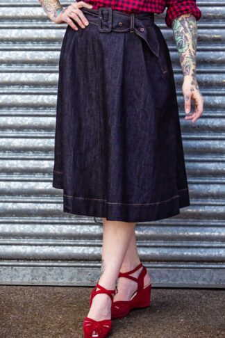Rumble59 Ladies Denim - Tellerrock | Swing Skirt von Rockabilly Rules