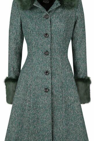 Voodoo Vixen Erin Herringbone Coat Mantel dunkelgrün