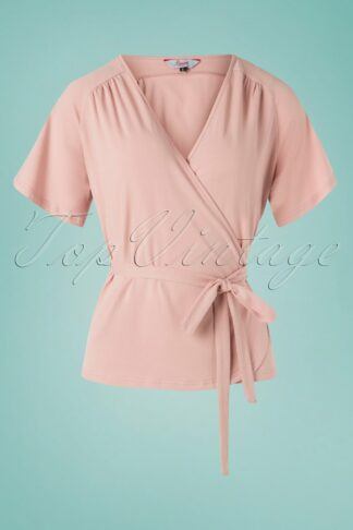 30s Fancy Raglan Top in Blush