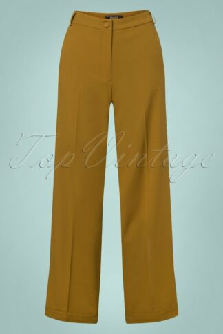 40s Ethel Tuillerie Pants in Chartreuse Yellow