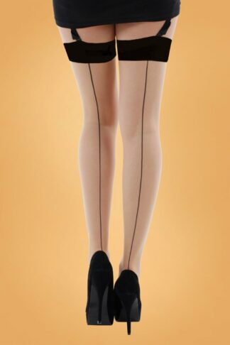 40s Jive Stockings in Nude and Black