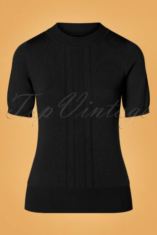 40s Kristin Top in Black