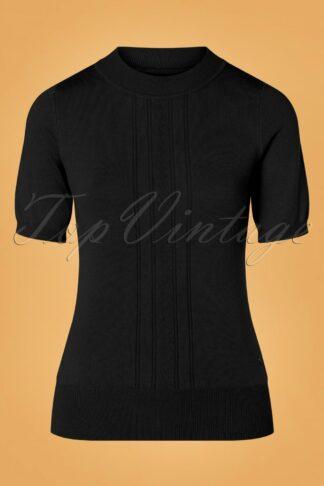 40s Kristin Top in Black