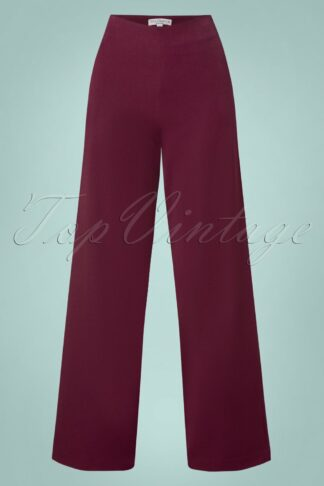 40s Marlene Pants in Burgundy