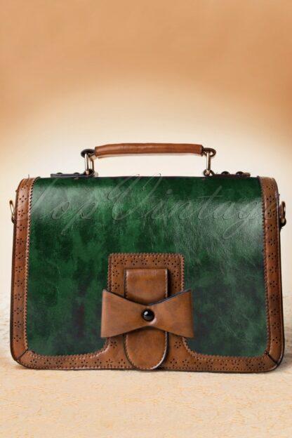 50s Antique Handbag in Green