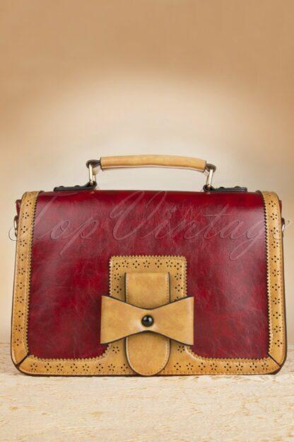 50s Antique Handbag in Red
