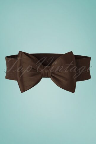 50s Bella Bow Belt in Dark Brown