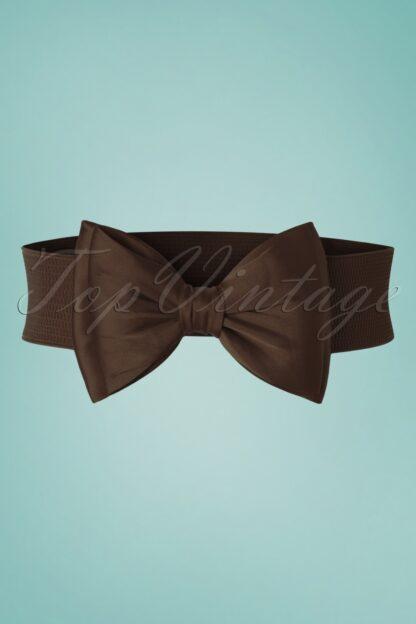 50s Bella Bow Belt in Dark Brown