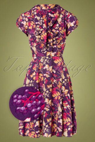 50s Berry Crush Swing Dress in Purple