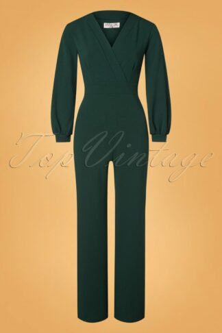 50s Caddie Jumpsuit in Forest Green