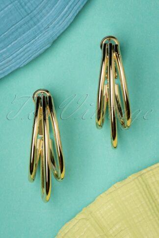 50s Carrie Earrings in Gold