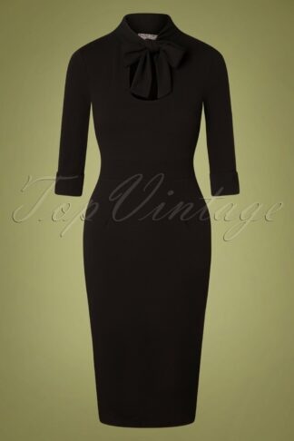 50s Cecelia Pencil Dress in Black