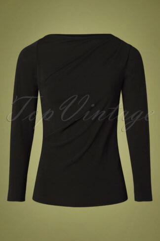 50s Chipre Top in Black