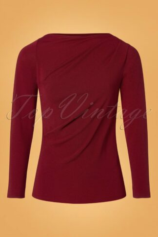 50s Chipre Top in Burgundy