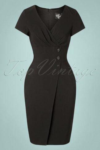 50s Claire Pencil Dress in Black
