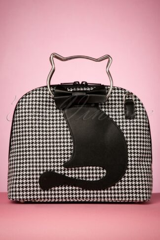 50s Dixie Cat Bag in Black and White