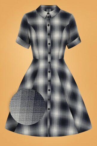 50s Eddystone Dress in Grey