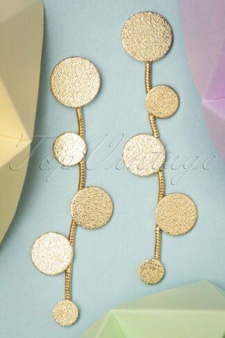 50s Fever Earrings in Gold