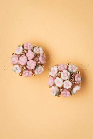 50s Florence Bouquet Earstuds in Pink