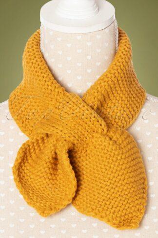 50s Fru Fru Knitted Scarf in Mustard