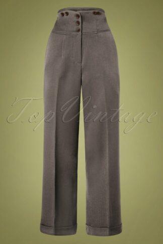 50s Girl Boss Trousers in Grey