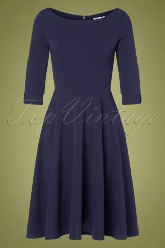 50s Hadley Swing Dress in Navy