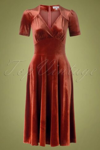 50s Hollywood Circle Dress in Ginger Velvet