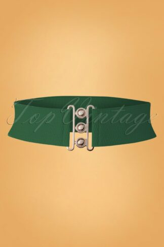 50s Lauren Vintage Stretch Belt in Green