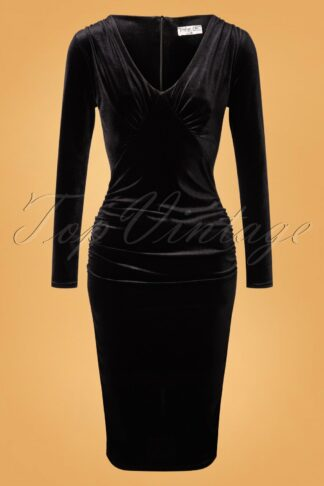 50s Laverna Pencil Dress in Black